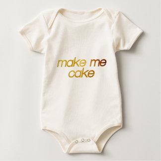 Make me cake! I'm hungry! Trendy foodie Baby Bodysuit