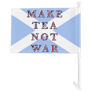 Make Tea Not War Scottish Independence Car Flag