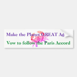 Make the Planet Great Bumper Sticker