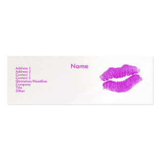 """Make-up Artist"" I Profile Card - Customisable Pack Of Skinny Business Cards"
