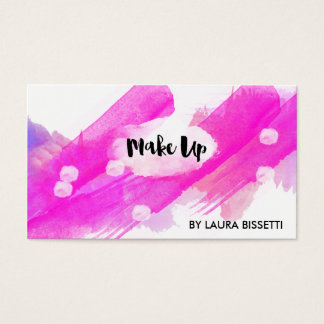 ★ Make Up Watercolour-Modern Calligraphy Design ★ Business Card