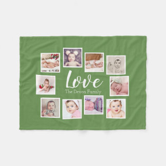 Make Your Own 10 Photo Collage Personalised Fleece Blanket