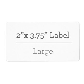 Make Your Own 8.5 X 11 Label Shipping Label