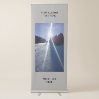 Make your own custom vertical roll up banners