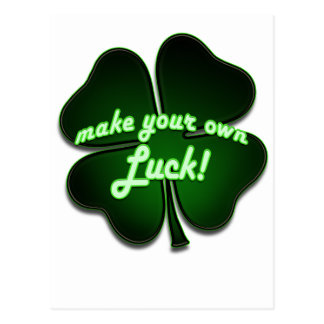 Make your own Luck Postcard