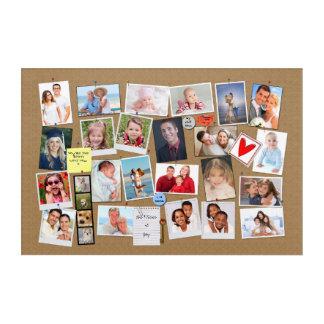 Make Your Own Memories Photo Faux Cork Board Acrylic Print