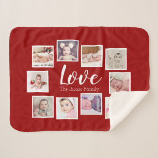 Make Your Own Photo Collage Unique Personalised Sherpa Blanket
