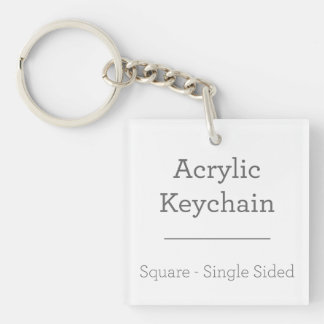 Make Your Own Square Keychain