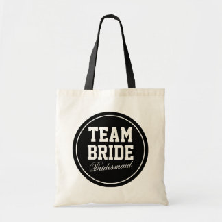 Make your own Team Bride tote bags | wedding party