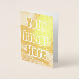 Make your own unique one of a kind personalised foil card
