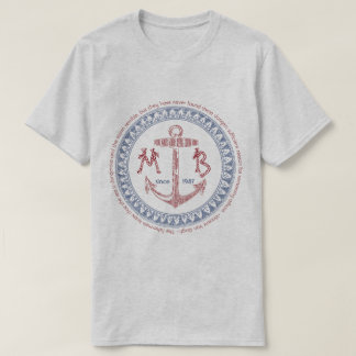 Make Your Own Vintage Anchor Nautical Monogram T-Shirt
