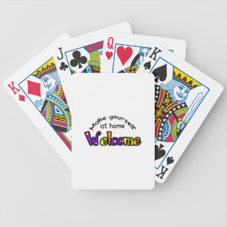 MAKE YOURSELF AT HOME BICYCLE PLAYING CARDS