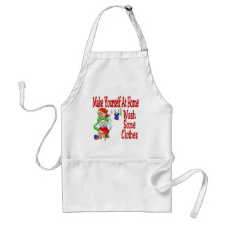 Make Yourself At Home Wash Some Clothes Adult Apron