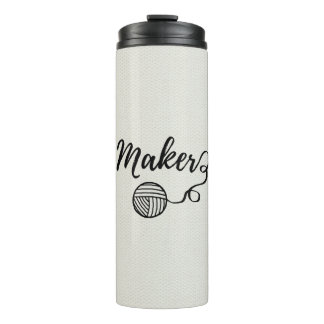 Maker • Yarn & Crafts Typography Thermal Tumbler
