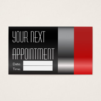 Makeup Artist Appointment - Red Lipstick Business Card