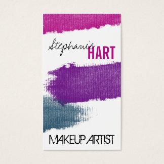 Makeup Artist Business Card - Bold Lipstick Smear