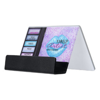 Makeup Artist Desk Business Card Holder
