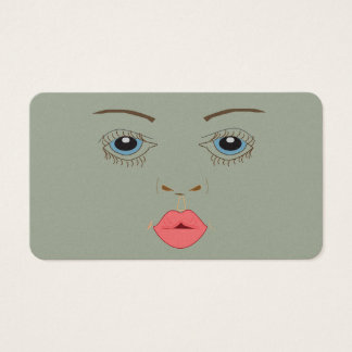 Makeup Artist Face Business Card