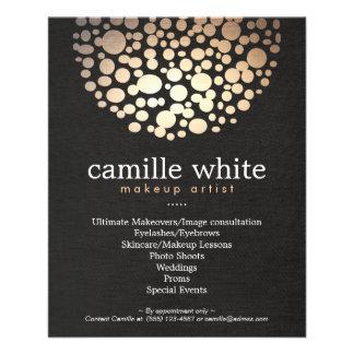 Makeup Artist Gold Circles Beauty Salon Menu 11.5 Cm X 14 Cm Flyer