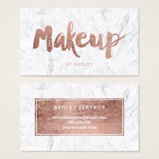 Makeup artist modern rose gold typography marble