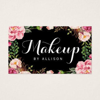 Makeup Artist Modern Script Girly Floral Wrapping
