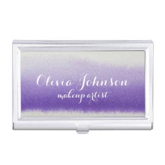 Makeup Artist Watercolor Lavender Business Card Holder