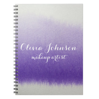Makeup Artist Watercolor Lavender Notebook