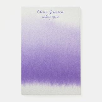 Makeup Artist Watercolor Lavender Post-it Notes