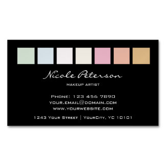 makeup magnetic fine pastel magnetic business card