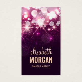 Makeup - Pink Glitter Sparkles Business Card