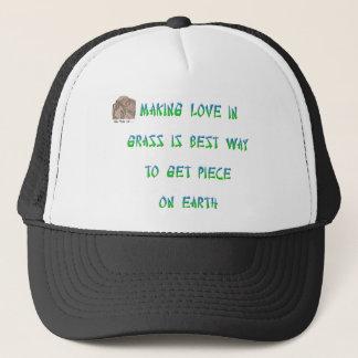 Making love in grass is best way to get piece ... trucker hat