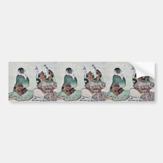 Making umbrellas by Katsushika, Hokusai Ukiyoe Bumper Stickers