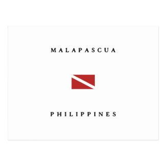 Malapascua Philippines Scuba Dive Flag Postcard