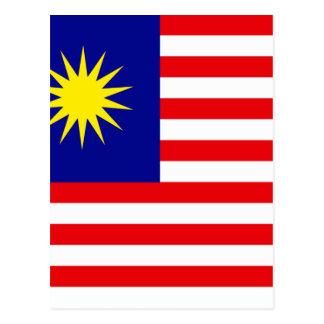 Malaysian Flag Postcard