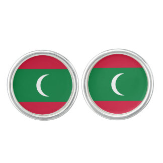 Maldivian flag Cufflinks