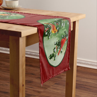 Male and Female Cardinals Red Medium Table Runner