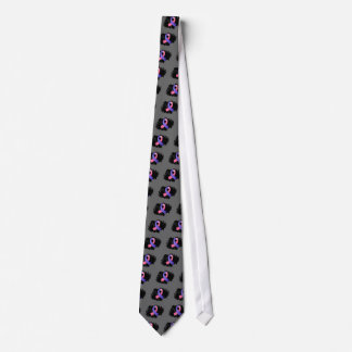 Male Breast Cancer Pink Blue Ribbon With Scribble Tie