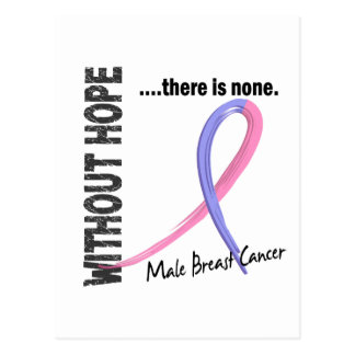 Male Breast Cancer Without Hope 1 Post Card