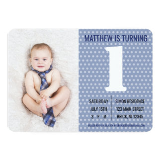 Male Children's birthday invitation