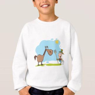 Male Farmer With Horse Sweatshirt