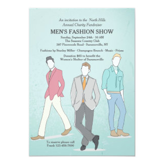 Male Fashion Models Invitation