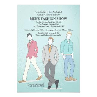 Male Fashion Models Invitation