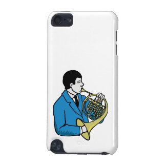 Male French Horn Player Blue Suit iPod Touch (5th Generation) Case