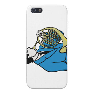Male French Horn Player Blue Suit iPhone 5 Covers