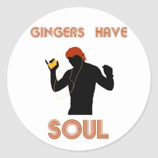 Male Gingers Have Soul Classic Round Sticker