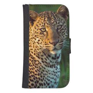 Male Leopard (Panthera Pardus) Full-Grown Cub Samsung S4 Wallet Case