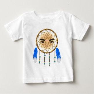 Male Native American Kokopelli Dream Catcher Baby T-Shirt