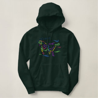 Male Scuba Diver Outline Hoodies