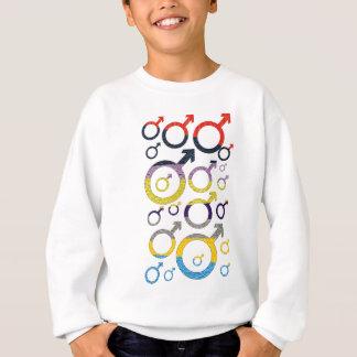 Male Symbol Pattern Sweatshirt