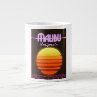 Malibu California sunset travel poster Large Coffee Mug